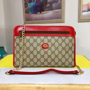 Gucci GG Pattern Monogram Shoulder Bag 💼 Red